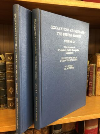 EXCAVATIONS AT CARTHAGE: THE BRITISH MISSION [VOLS. I,1; I, 2]. H. R. Hurst, S. P. Roskams, M. G....