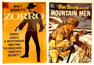 ZORRO & OTHER MOVIE AND TV COMICS ( 4 issues) FN -VF