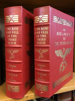 THE RISE AND FALL OF THE THIRD REICH: A HISTORY OF NAZI GERMANY [TWO VOLUMES]. William L. Shirer