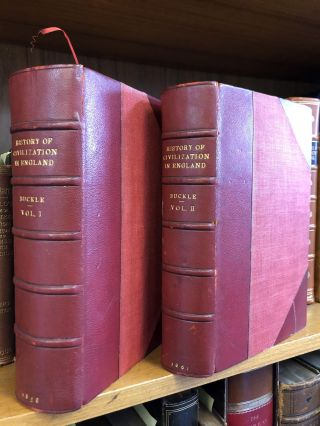 HISTORY OF CIVILIZATION IN ENGLAND [TWO VOLUMES]. Henry Thomas Buckle