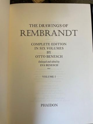 THE DRAWINGS OF REMBRANDT [6 Volume Set]