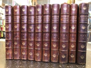 THE LIFE OF SAMUEL JOHNSON, LL.D. INCLUDING A JOURNAL OF HIS TOUR TO THE HEBRIDES [10 VOLUMES]....