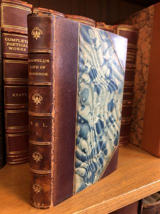 THE LIFE OF SAMUEL JOHNSON, LL.D. INCLUDING A JOURNAL OF HIS TOUR TO THE HEBRIDES [10 VOLUMES]