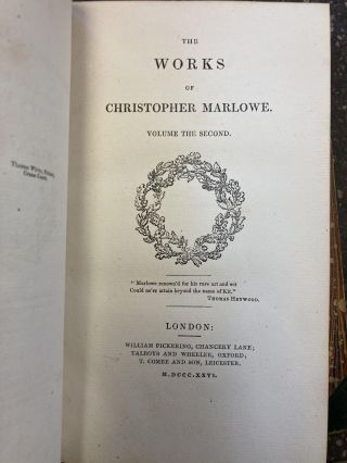 THE WORKS OF CHRISTOPHER MARLOWE [THREE VOLUMES]