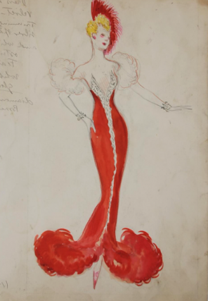 Red Evening Gown (ref #17). Montedoro