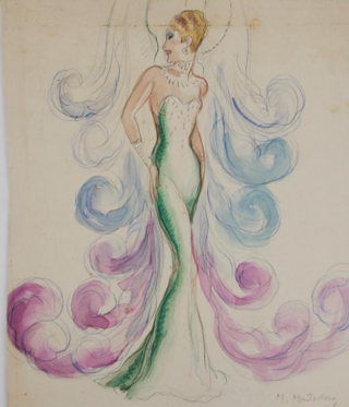 Green Evening Gown (ref #20). Montedoro
