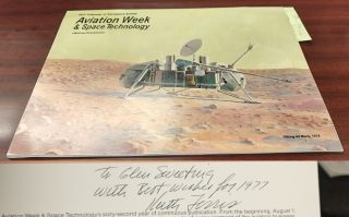 Aviation Week & Space Technology 1977 Calendar of Aerospace Events [Inscribed]. Keith Ferris