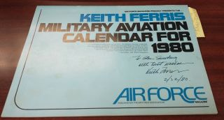 Keith Ferris Military Aviation Calendar for 1980 [Inscribed]. Keith Ferris