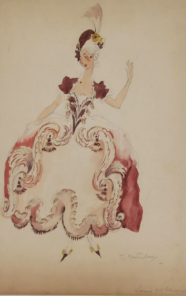 Louis XV Dress (ref #22A). Montedoro