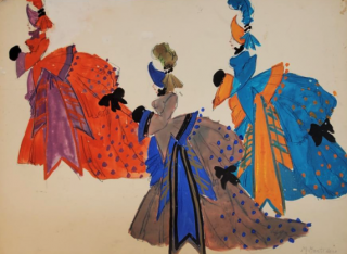 Three Bustle Gowns (ref #32B). Montedoro