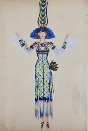 Egyptian-inspired Dress (ref #44). Montedoro