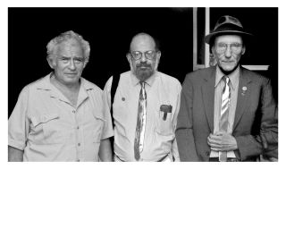 PHOTO OF NORMAN MAILER, ALAN GINSBURG, & WILLIAM S BURROUGHS: Boulder, CO 1985 [SIGNED limited...