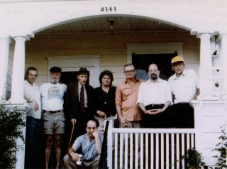 PHOTO OF PETER ORLOVSKY, LAWRENCE FERLINGHETTI, WILLIAM S. BURROUGHS, GREGORY CORSO, PHILIP...