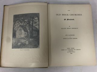 The Old Brick Churches of Maryland