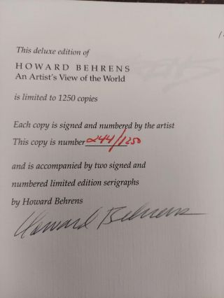 HOWARD BEHRENS: AN ARTIST'S VIEW OF THE WORLD [SIGNED]